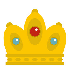 Queen crown icon isolated vector