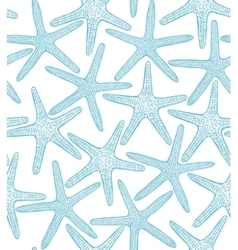 seamless background with starfishes vector image vector image