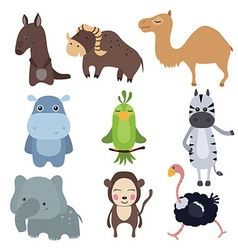 set of different african animals vector image