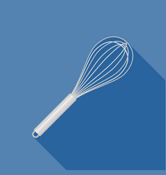 Stainless egg whisk icon vector