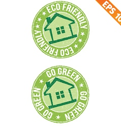Stamp sticker ECO collection - - EPS10 vector image
