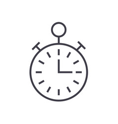 timerstopwatch time management line icon vector image