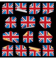 uk paper curls vector image vector image