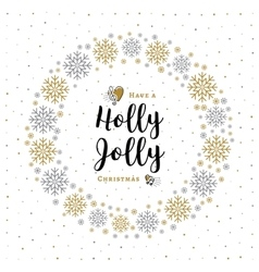 Holly jolly christmas card minimalist style vector