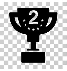 Second prize cup icon vector