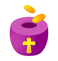 Icon offering box and money vector