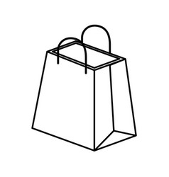 Shopping bag isometric icon vector