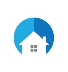 Circle house logo image vector