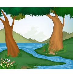 Tree and nature background vector