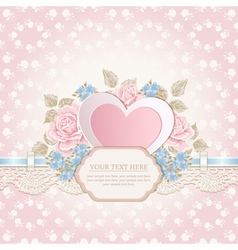Greeting card with heart shape vector