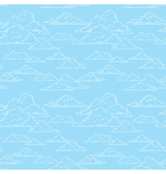 Clouds seamless pattern hand-drawn vector
