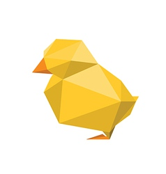 Origami chicken vector
