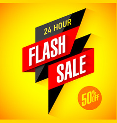 24 hour flash sale banner vector