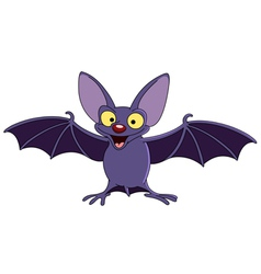Bat with spread wings vector