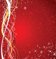 Starry christmas background vector