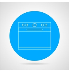 Flat line icon for kitchen stove vector