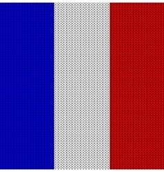 Knitted flag of france vector
