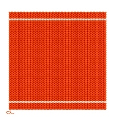 Knitted seamless red background vector