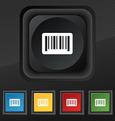 Barcode icon symbol set of five colorful stylish vector