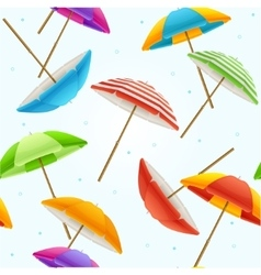 Beach umbrella background vector
