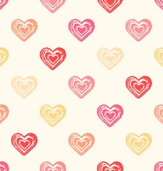 Color seamless grunge hearts pattern vector