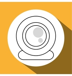 Communication design media icon flat vector