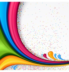 Background with color strips vector image vector image