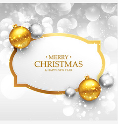 beautiful merry christmas greeting design with vector image vector image