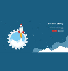 Business startup banner vector