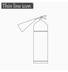 Fire extinguisher icon style thin line vector