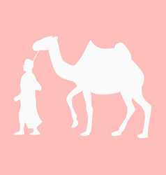 Flat icon on theme arabic business bedouin with a vector