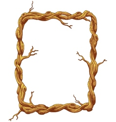 Frame made of tree trunk and branches vector image vector image