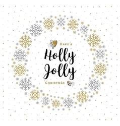 Holly jolly christmas card minimalist style vector