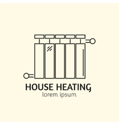 House Heating Logo Template vector image vector image