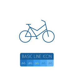 isolated bike outline velocipede element vector image