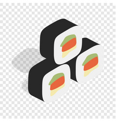 Korean food kimbap isometric icon vector