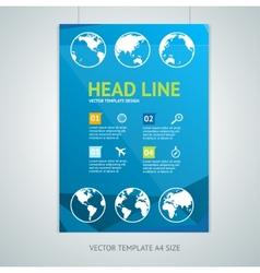 Maps brochure flyer design templates vector