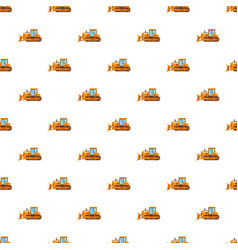 orange bulldozer pattern vector image