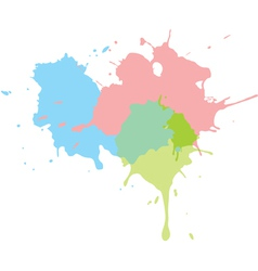 paint splats background vector image vector image