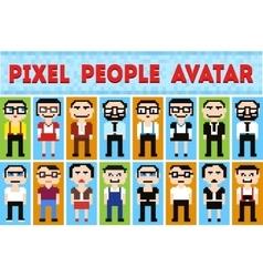 Pixel cartoon vector