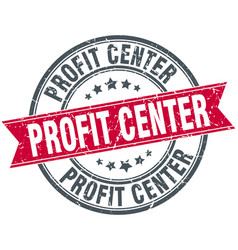 profit center round grunge ribbon stamp vector image vector image
