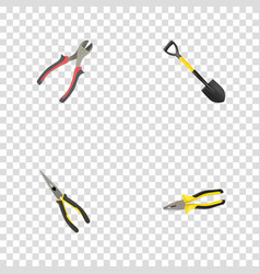 realistic nippers forceps spade and other vector image vector image
