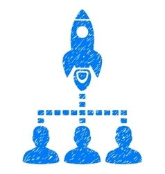 Rocket Space Community Grainy Texture Icon vector image vector image