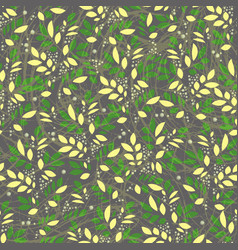 Seamless leaves and floral vintage textured vector