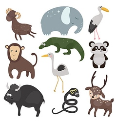 set of different animals of Asia vector image
