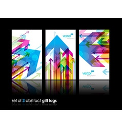 Set of gift cards with arrows vector image