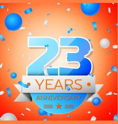 Twenty three years anniversary celebration vector