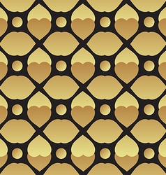 Universal black and gold seamless pattern tiling vector image