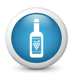 Wine bottle glossy icon vector image