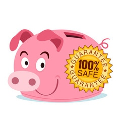 Safety guarantee stamp vector